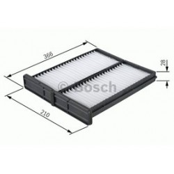 Kabinový filter Bosch 1 987 432 044