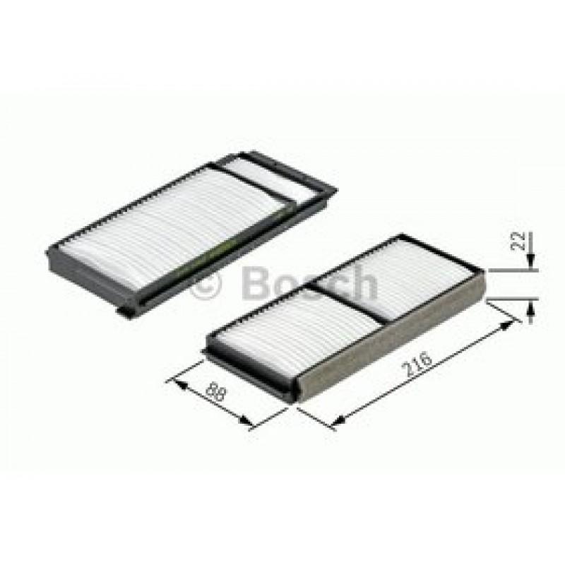 Kabinový filter Bosch 1 987 432 163