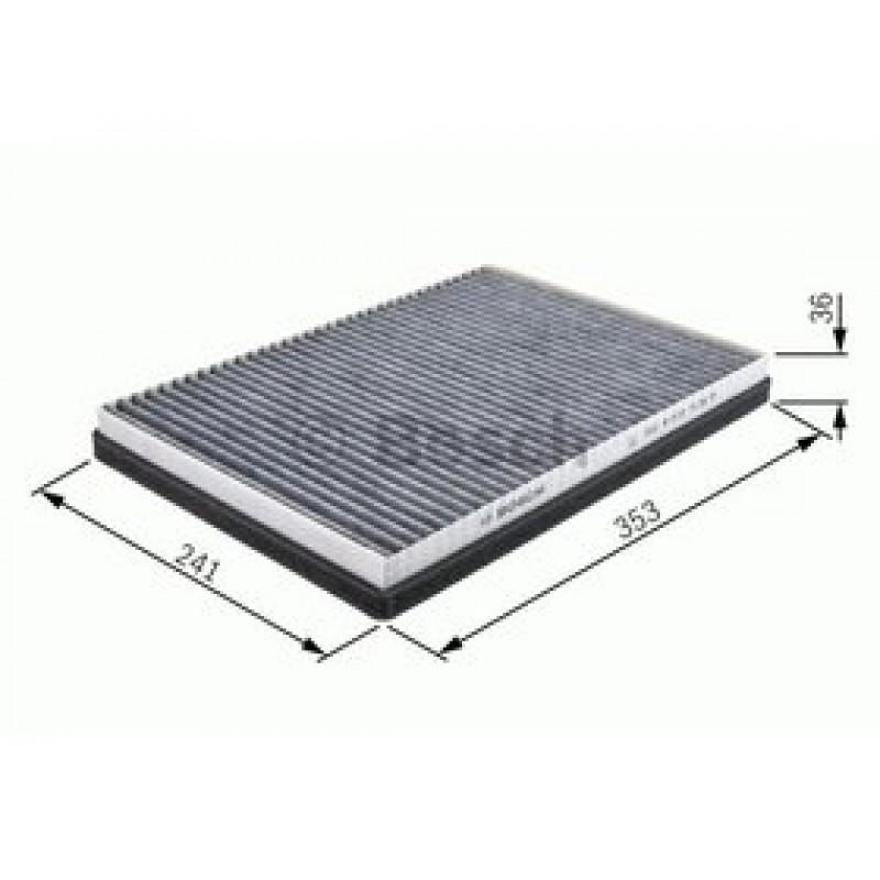 Kabinový filter Bosch 1 987 432 337