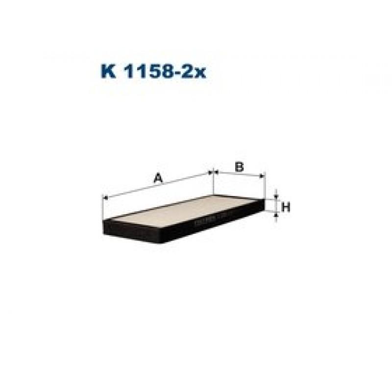 Kabinový filter Filtron K1158-2X