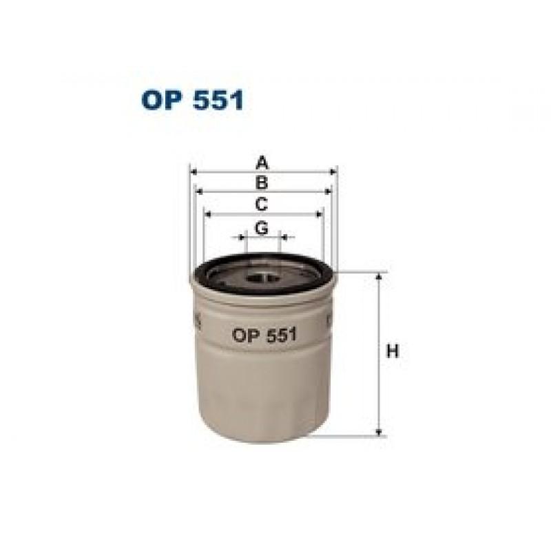 Olejový filter Filtron OP551
