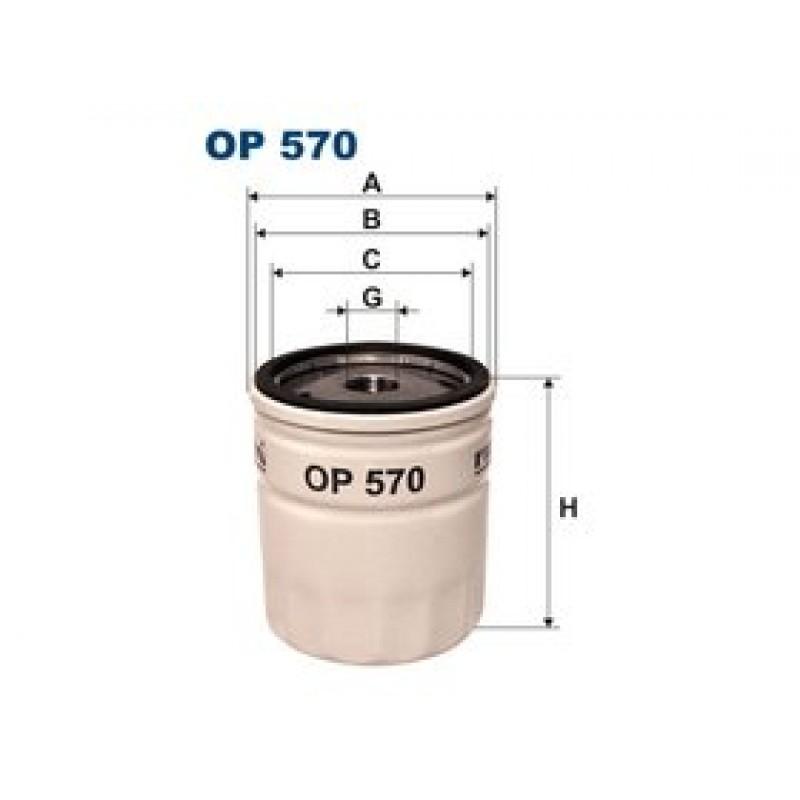 Olejový filter Filtron OP570