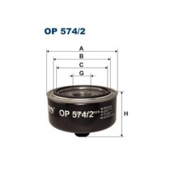 Olejový filter Filtron OP574/2