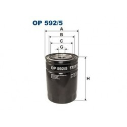 Olejový filter Filtron OP592/5