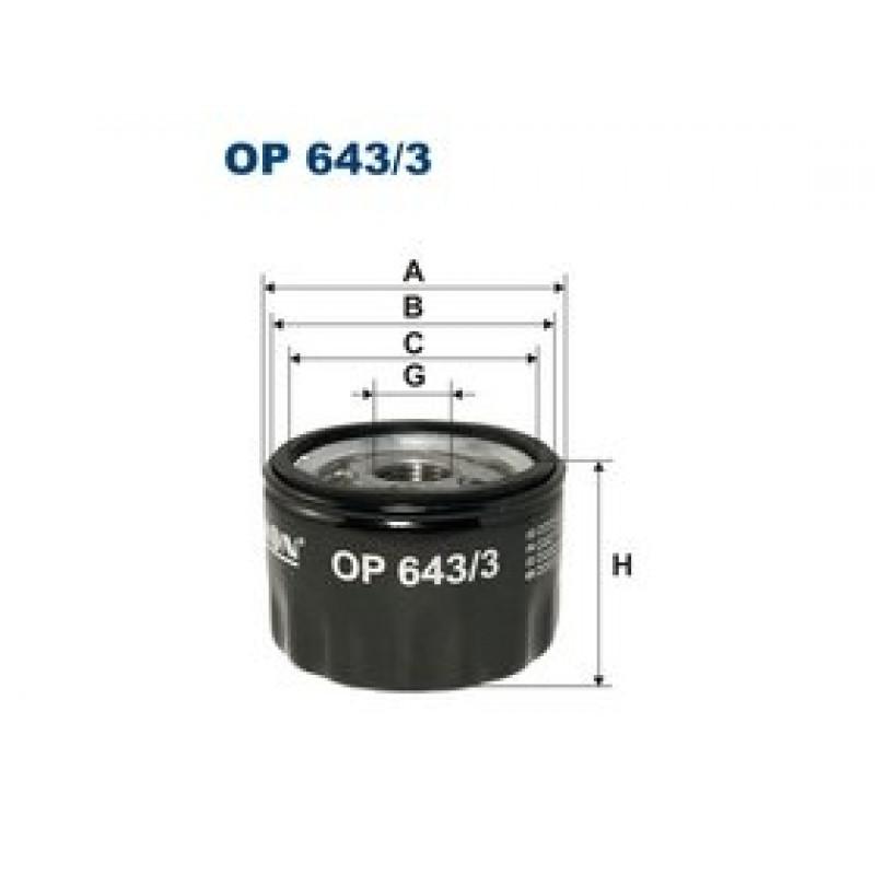 Olejový filter Filtron OP643/3