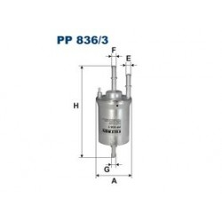Palivový filter Filtron PP836/3
