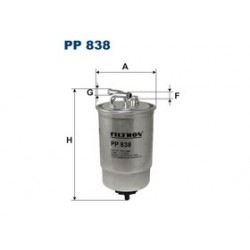 Palivový filter Filtron PP838