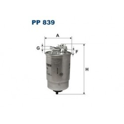 Palivový filter Filtron PP839