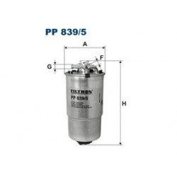 Palivový filter Filtron PP839/5