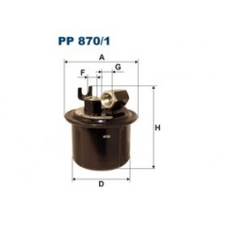 Palivový filter Filtron PP870/1