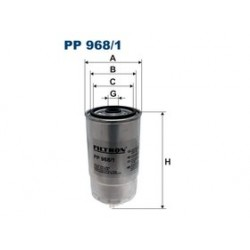 Palivový filter Filtron PP968/1