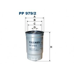 Palivový filter Filtron PP979/2