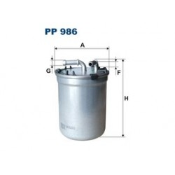 Palivový filter Filtron PP986