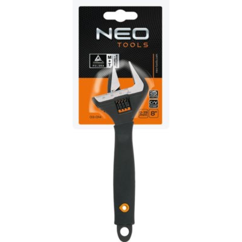 NEO 03-014 Nastaviteľný kľúč 200mm, 0-38mm