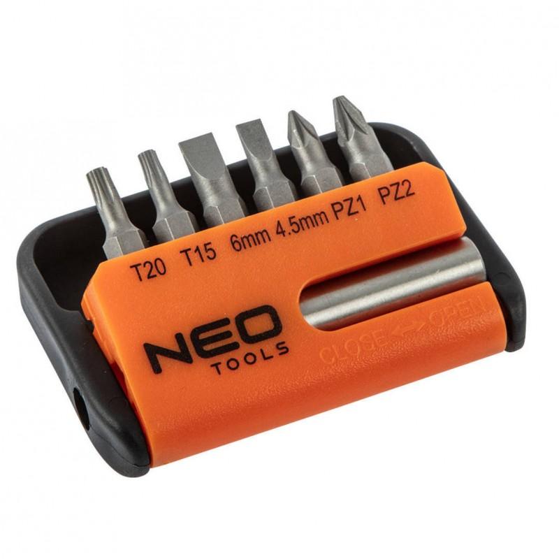 NEO 06-101 Sada bitov s nástavcom, 7ks sada