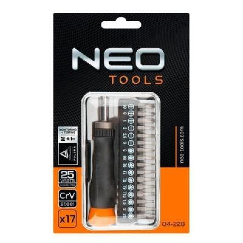 NEO 04-228 Skrutkovače, 17 dielna sada bitov
