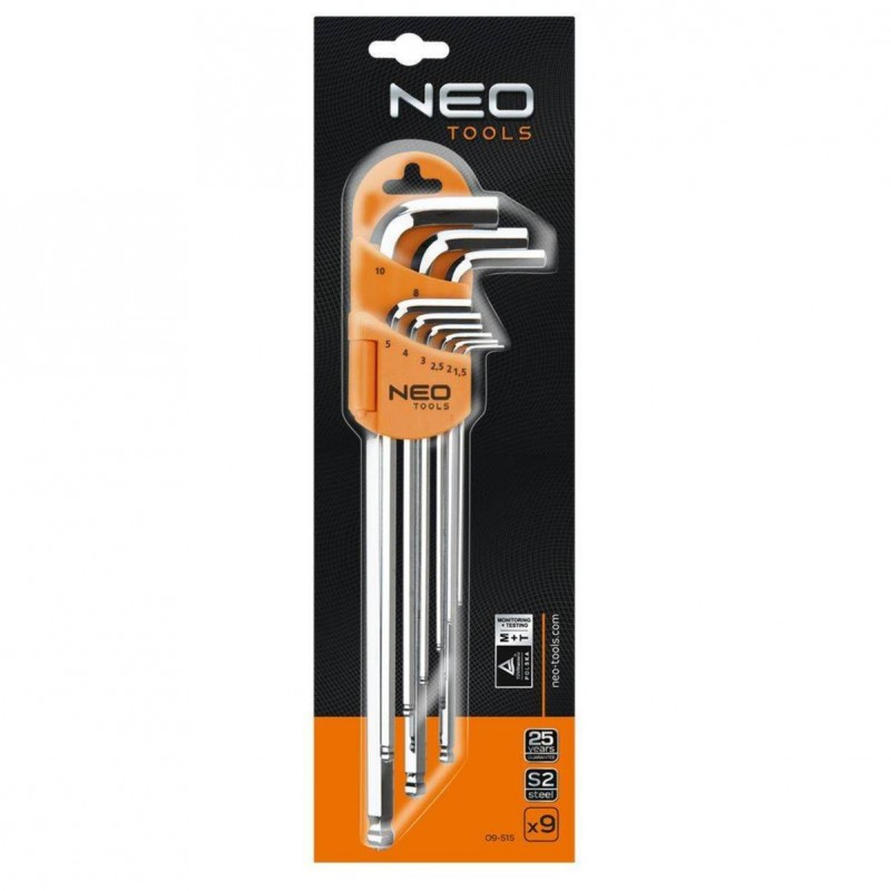NEO 09-515 Sada imbus 1.5-10mm, 9ks