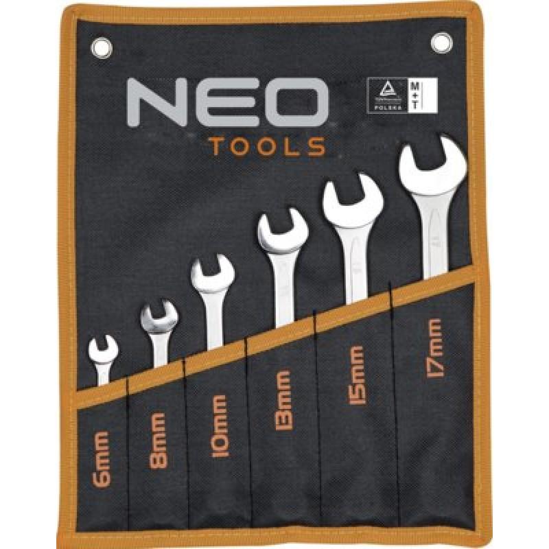 NEO 09-750 Kľúče očkoploché 6-17mm, 6ks