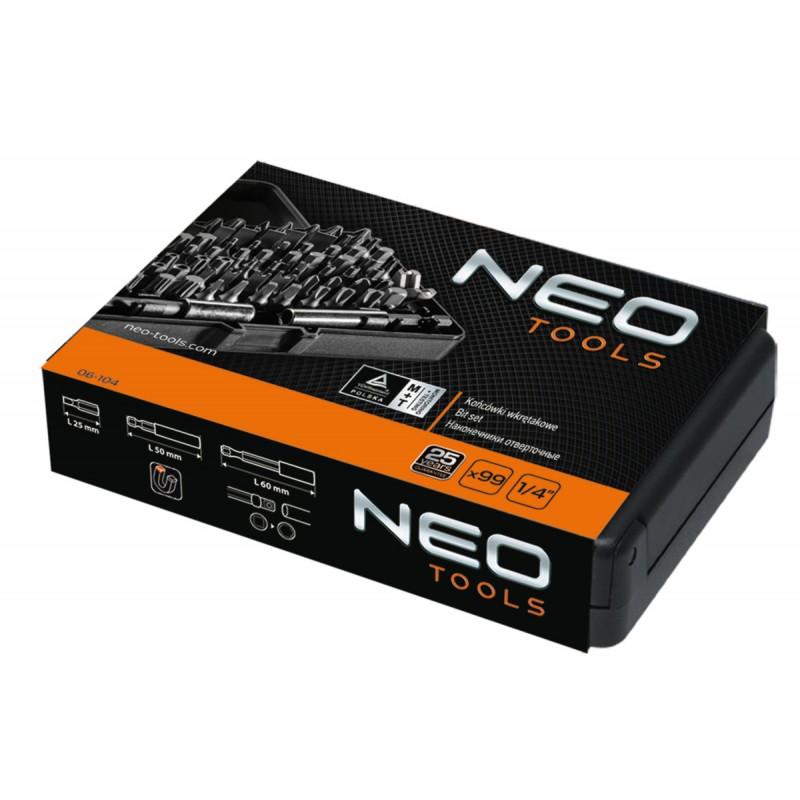 NEO 06-104 Sada bitov s nástavcom 99ks sada