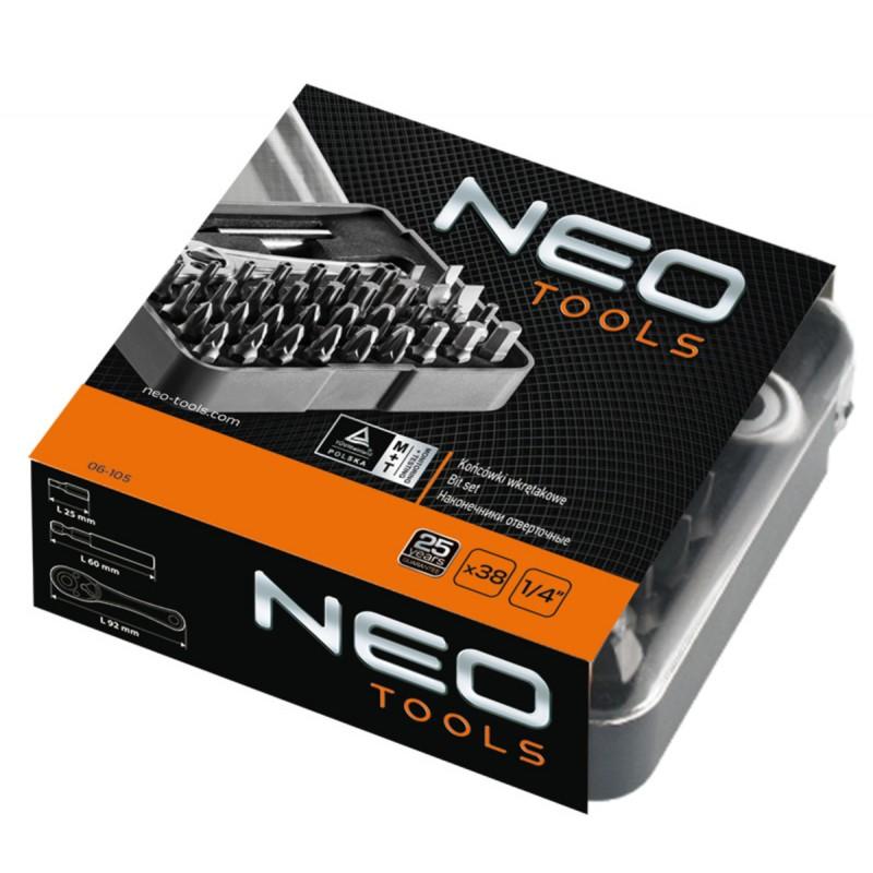 NEO 06-105 Sada bitov s nástavcom, 38ks sada