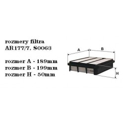 Vzduchový filter Filtron AP177/7