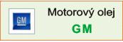 Motorový olej GM