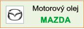 Motorový olej Mazda