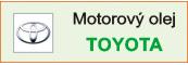Motorový olej Toyota